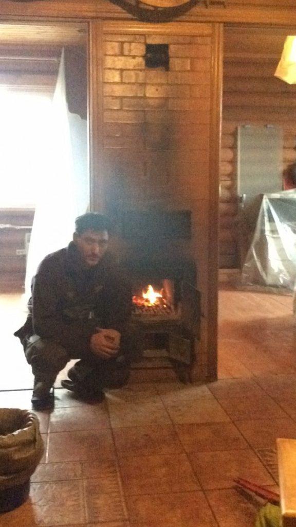 печь столбянка, голландка, хороший печник, горит пламя, огонь